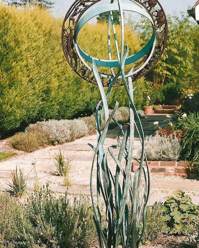 Forging Matters - bronze sundial stand