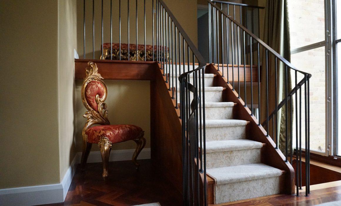 Flowing Brass handrail