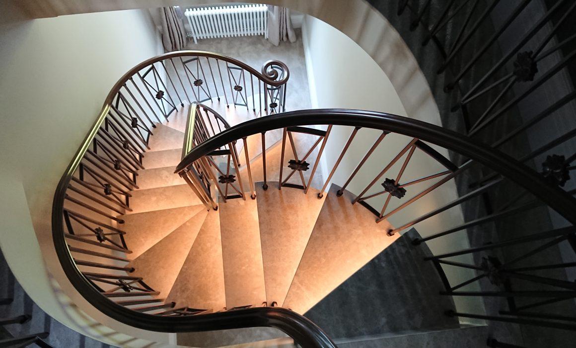 Complex steel stair geometry